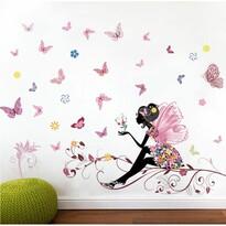Decorațiune autocolantă Zâna fluture, 120 x 80 cm