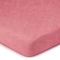 Cearșaf de pat 4Home din frotir, roz
