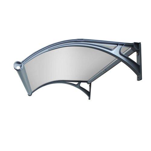 Aldo Dverná vchodová LED strieška číra, 100 x 150 cm