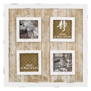 Dřevěný fotorámeček na 4 fotografie, hnědá