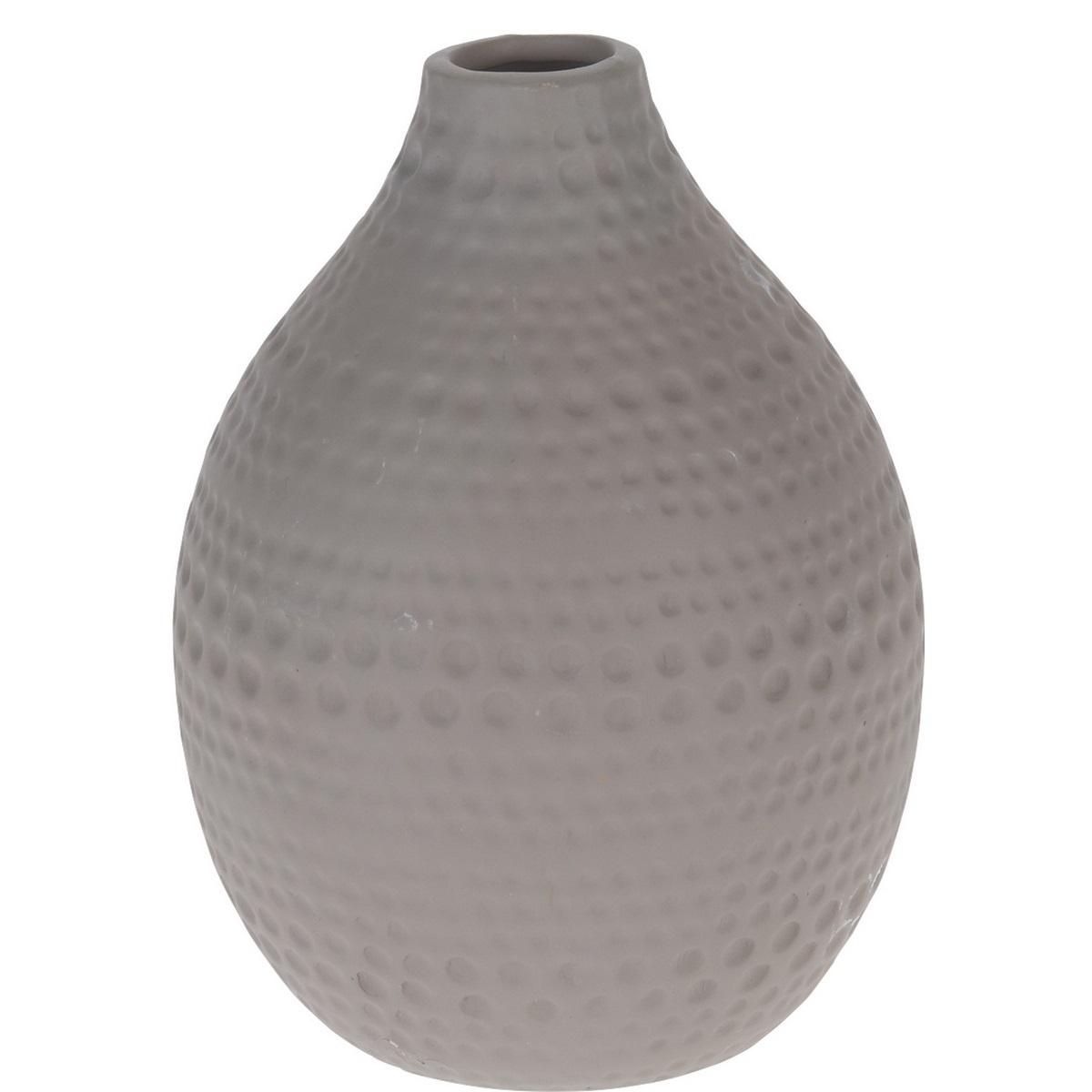 Koopman Keramická váza Asuan hnědá, 17,5 cm