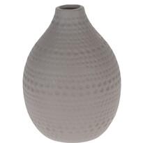 Koopman Asuan kerámia váza, barna, 17,5 cm